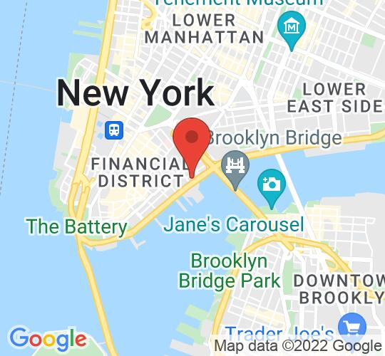 Google map static shot of Hornblower Cruises Pier 15, United States, 10038