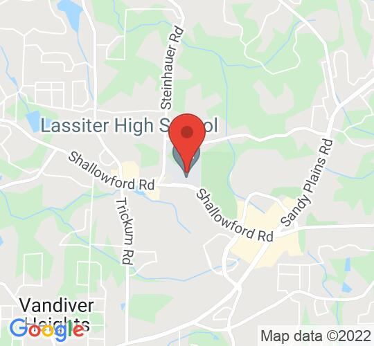 Google map static shot of Lassiter High School Theatre, United States, 30066